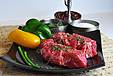 Steak: Chuckeye Steak Boneless, 2x7 oz. 11.99/lb., KOSHER PASTURES AMERICAN ANGUS, GRASS-FED, NO ADDED HORMONES EVER, NO ANTIBIOTICS EVER, NEVER GRAIN FED