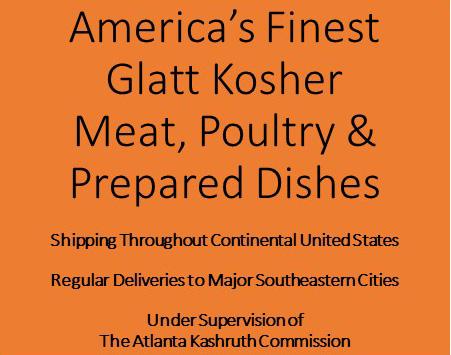 Glatt Kosher Meat, Poultry, and Prepared Foods